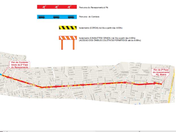 Condução da tocha vai ser encerrada no centro de Aparecida de Goiânia (Foto: Divulgação/Prefeitura de Aparecida de Goiânia)