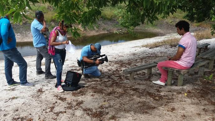Bastidores do Aprovado de sábado, 7, no Parque das Dunas (Foto: TV Bahia)