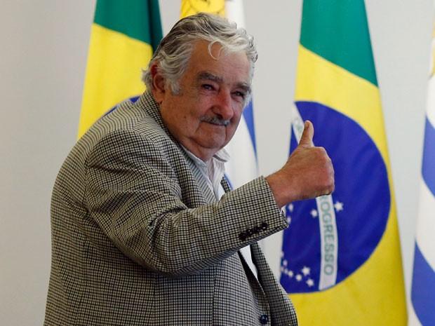 O presidente uruguaio José Mujica no Palácio do Planalto, em Brasília (Foto: Ueslei Marcelino / Reuters)