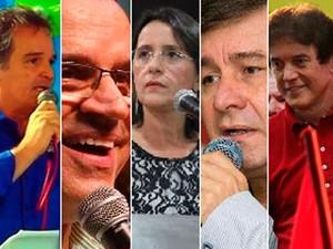 Candidatos ao Governo do RN (Foto: Assessorias de imprensa dos candidatos)