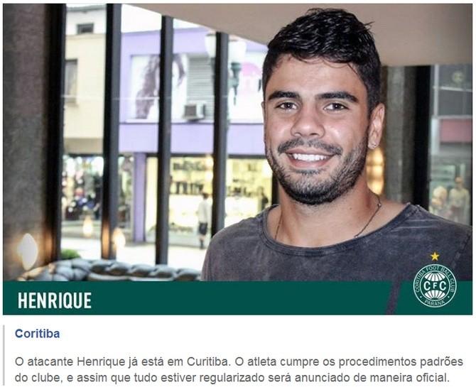 Blog Torcida Coritiba - Henrique