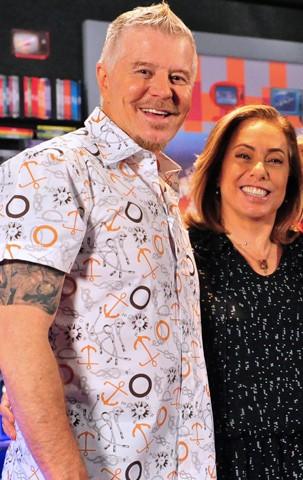 Miguel Falabella e Cissa Guimarães voltam ao programa (Foto: Globo)