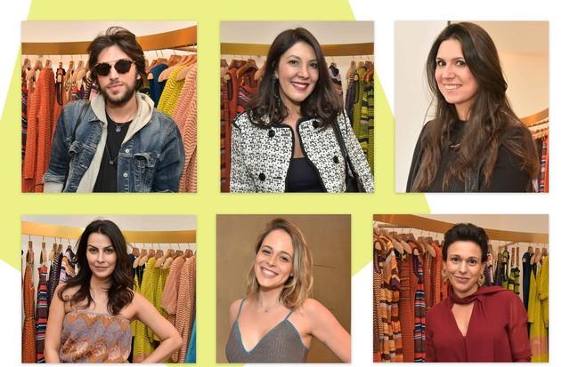Aderbal Freire, Adriana Mingorance, Camila Falbo. Abaixo, Anuska Prado, Luiza Molinaro e Cris Galotti (Foto: Reprodução)