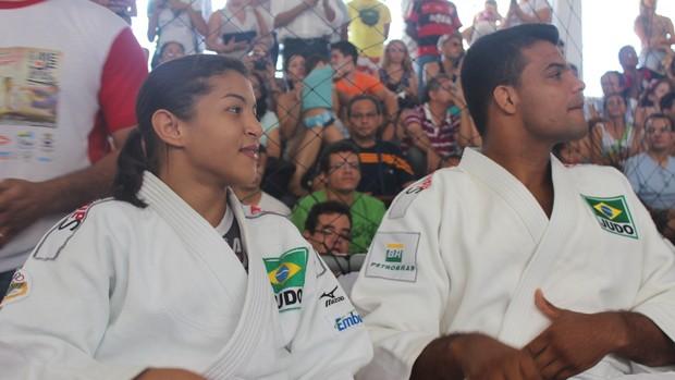 Sarah Menezes e Luciano Corrêa marcam na Copa AJef de Judô, em Teresina (Foto: Emanuele Madeira/GLOBOESPORTE.COM)