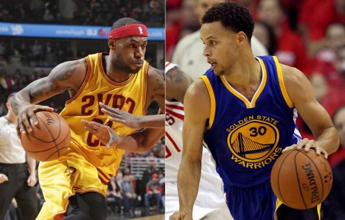 LeBron x Stephen Curry NBA  (Foto: Arte )