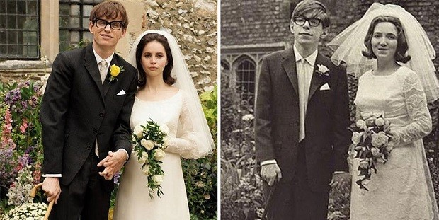 Eddie Redmayne e Stephen Hawking (Foto: Divulgação)