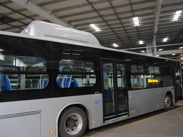Segundo a prefeitura de Palmas, a empresa pediu para expor o modelo de ônibus elétrico em Palmas (Foto: Divulgação/Ascom Prefeitura Palmas)