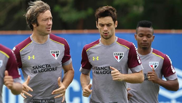 Lugano e Rodrigo Caio treinam no São Paulo (Foto: Site Oficial )