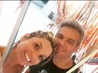 Flávia Alessandra posa com Otaviano Costa e se declara: 'Meu amor'