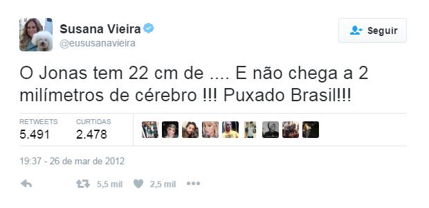 Suzana Vieira post no Twitter (Foto: Reprodução / Twitter)