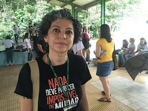 'Liminar atingiu brutalmente nossa autonomia', disse professora (Foto: Luis Henrique Oliveira/G1 AM)