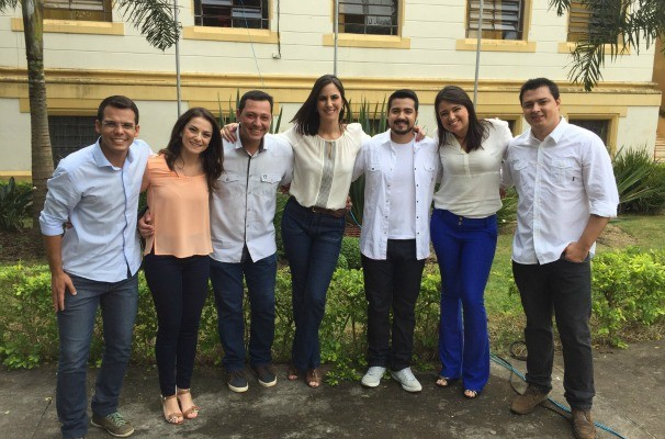 Apresentadores da TV TEM na região de Itapetininga (Foto: Reprodução/TV TEM)