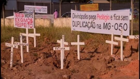 Moradores e empresários cobram melhorias na MG-050 em Divinópolis