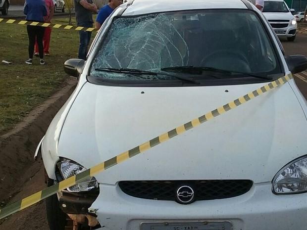 Teste do bafômetro feito no motorista deu positivo (Foto: PRF/Divulgação)