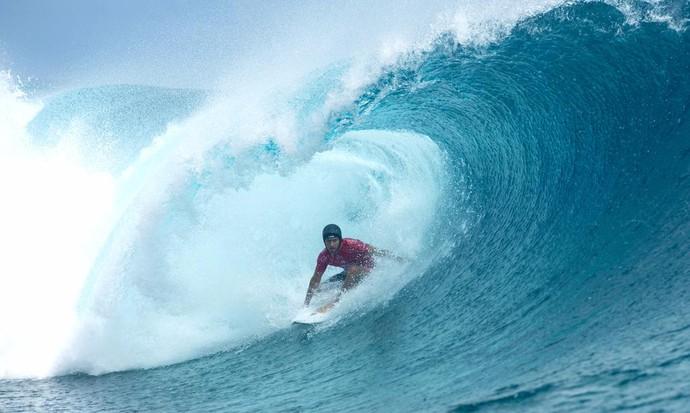 Jeremy Flores circuito mundial surfe Teahupoo (Foto: Divulgação/WSL)