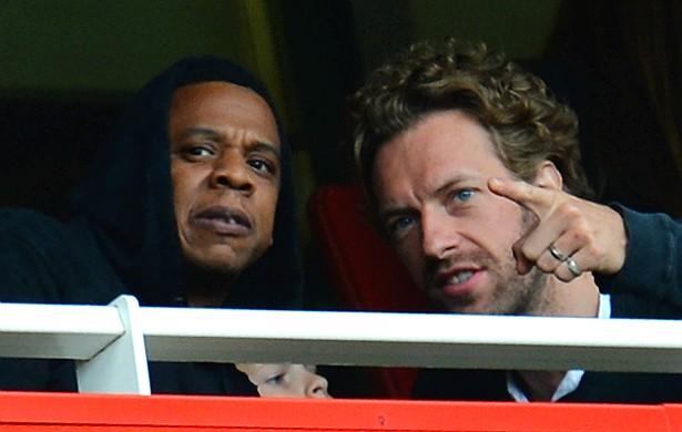 Do rap ao rock! Por mais que seus estilos musicais possam diferir, Jay-Z e Chris Martin são amicíssimos. (Foto: Getty Images)