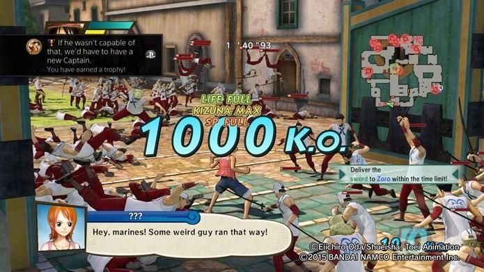 Encarar centenas de inimigo é o foco da jogatina em One Piece: Pirate Warriors 3 (Foto: Divulgação / BANDAI NAMCO)