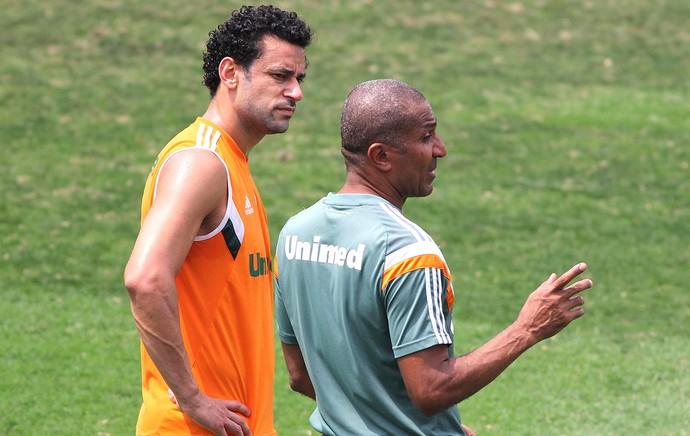 Fred e Cristóvão Borges, Treino Fluminense (Foto: Fernando Cazaes / Photocamera)