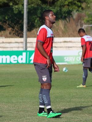 Vinícius, atacante do River-PI (Foto: Joana D'arc Cardoso/GloboEsporte.com )