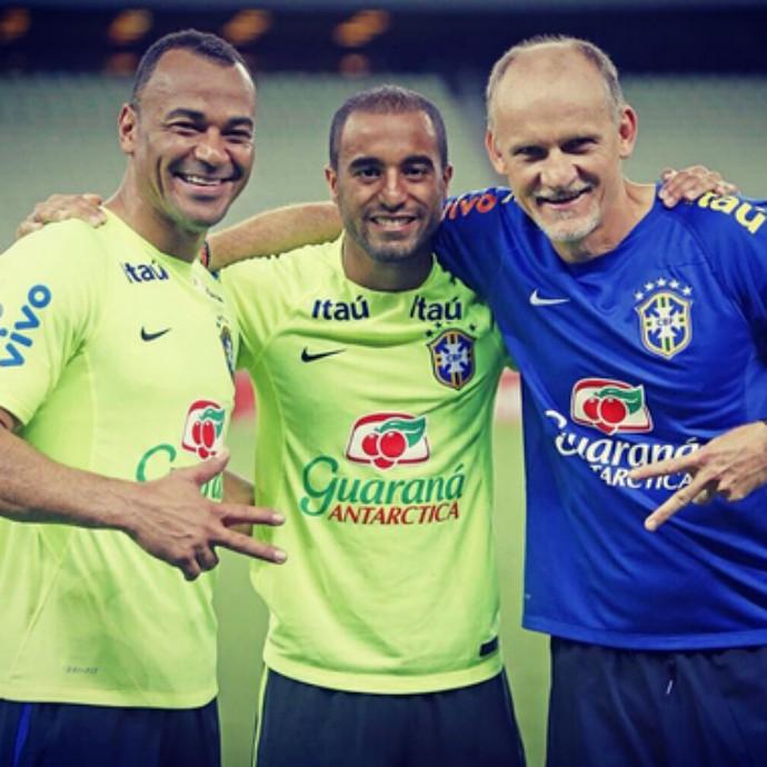 """Lucas Moura Mourinho: """"Exemplos!"""": Lucas Tieta Cafu E Taffarel Antes De Partida"""