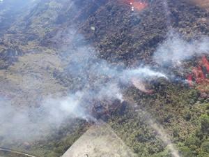 Incêndio Rio de Contas, Bahia (Foto: Bombeiros Militares da Bahia/ Divulgação)