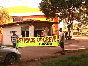 Greve Ufopa (Foto: Reprodução/TV Tapajós)