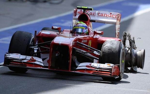 felipe massa pneu Silverstone inglaterra formula 1 (Foto: Reuters)