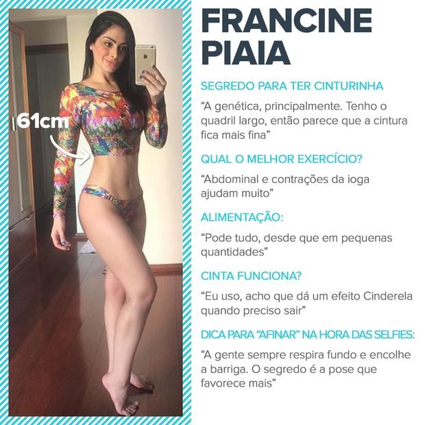 Cinturinhas - Francine Piaia (Foto: EGO)