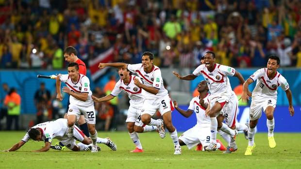 jogadores Costa Rica x Grécia (Foto: Reuters)