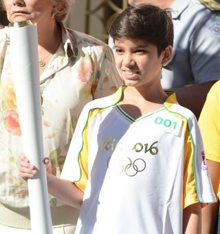 Flávio Marques atleta taekwondo Tour da Tocha Suzano (Foto: Cairo Oliveira)