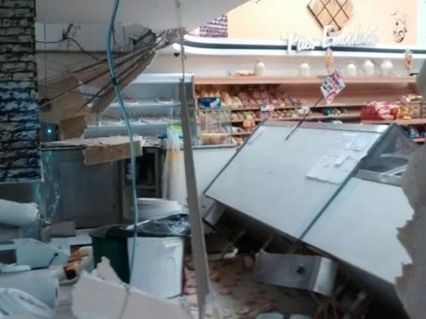 Polícia Civil vai apurar causa da explosão em mercado de Avaré (Foto: Reprodução/Jornal A Bigorna)