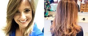 Adriana Cutino exibe novo visual e aposta na técnica do ombré hair; veja como ficou (Arquivo Pessoal)