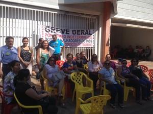 Servidores do INSS estão de greve por tempo indeterminado (Foto: Ísis Capistrano/ G1)