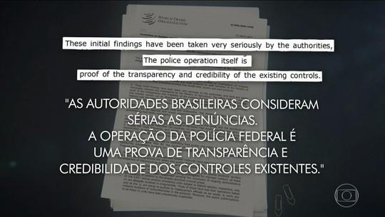 Brasil envia carta à OMC e diz que age com rigor e transparência