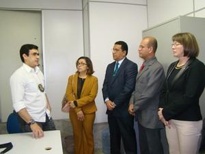 Reunião foi realizada na delegacia regional (Foto: Jaqueline Almeida/ G1 Caruaru)