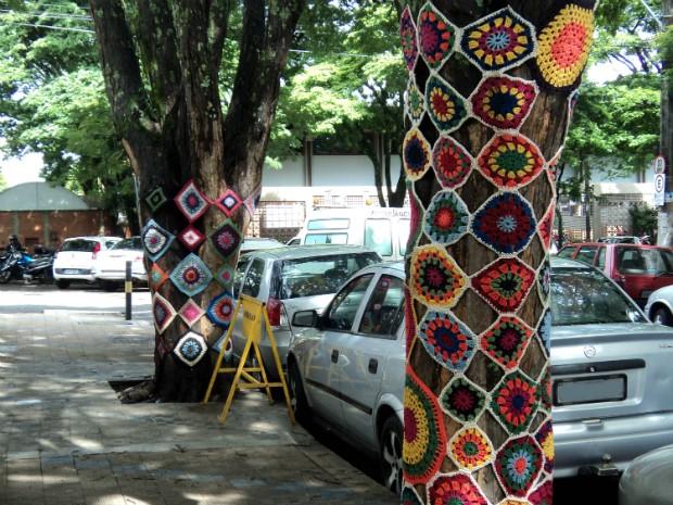 As árvores devem ficar enfeitadas por cerca de dois meses (Foto: Hospital do Câncer/Divulgação)