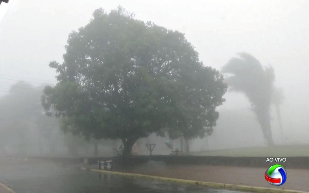 Frio em Chapada dos Guimarães (Foto: Reprodução/TVCA)