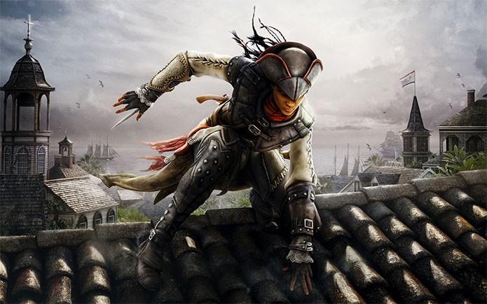 Aveline de Grandpré em Assassins Creed 3 Liberation (Foto: Divulgação)