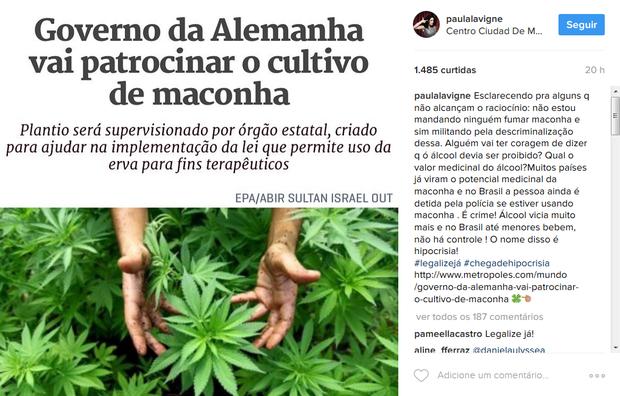 Paula Lavigne fez novo post após polêmica (Foto: Reprodução / Instagram)