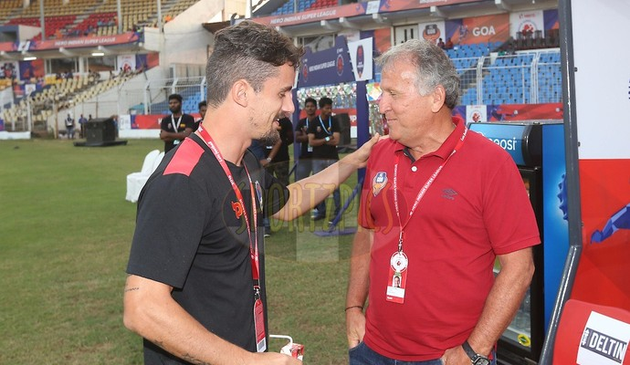 Marcelinho, Delhi Dyanmos FC, Zico (Foto: Arquivo Pessoal)