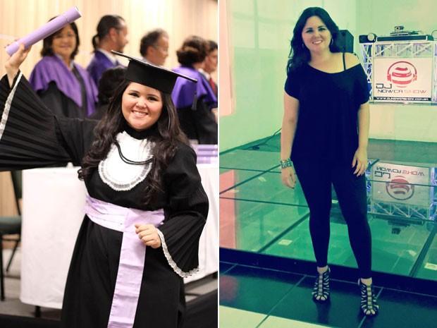Kelita de Oliveira Silva emagreceu mais de 20 quilos com atividade física e melhorando a alimentação (Foto: Arquivo pessoal/Kelita de Oliveira Silva)