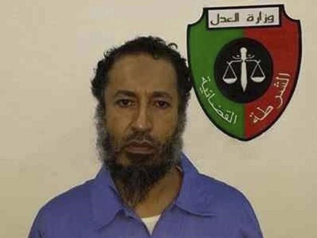 Saadi Khadafi, filho de Muammar Khadafi, dentro de uma prisão em Trípoli, em março de 2014 (Foto: Reuters/Divulgação)
