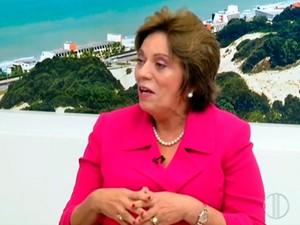 'Deixo uma administração honesta, sem escândalos', diz Rosalba Ciarlini (Foto: Reprodução/Inter TV Cabugi)
