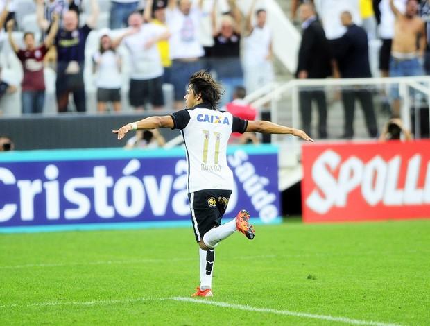 Romero comemora gol em Itaquera