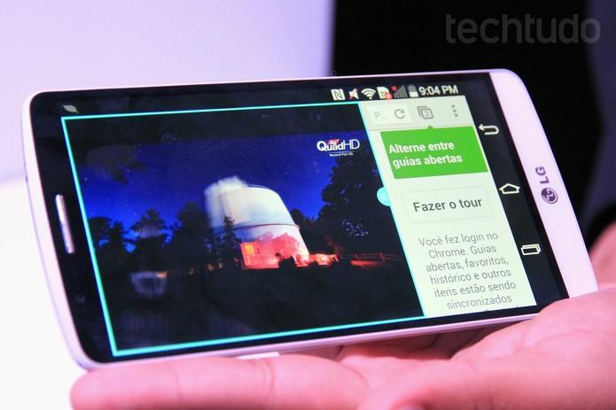 LG G3 roda apps em multijanela (Foto: Isadora Díaz/TechTudo)