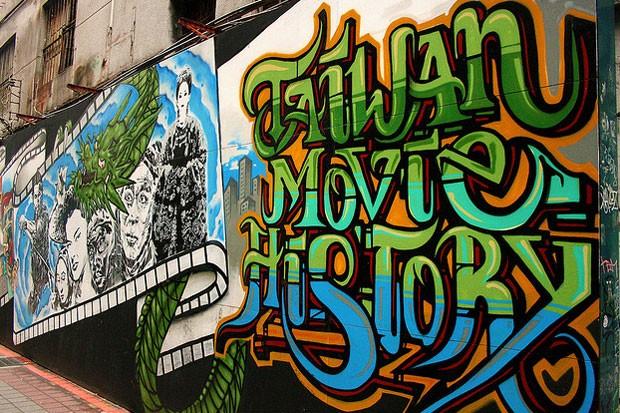 Taipei, em Taiwan, onde o grafite é legalizado desde 2012 (Foto: Reprodução/Flickr)
