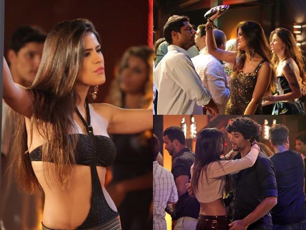 À noite, a Isadora sisuda se transformava na periguete Vicky (Foto: Guerra dos Sexos/TV Globo)