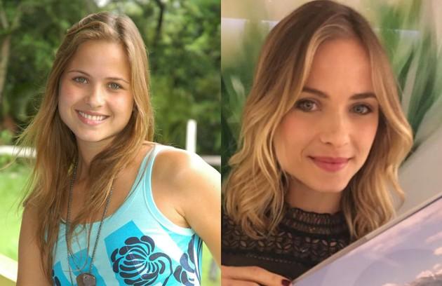 Luiza Valdetaro foi Manuela, a protagonista da temporada. A atriz mora em Londres e assumiu o braço europeu da produtora BlueMoon. No início do ano, ela assinou a direção de conteúdo do 'Destino certo', do Mais Globosat (Foto: TV Globo e reprodução)