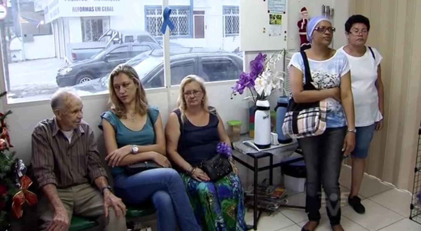 Pacientes do GAPC em Santos (Foto: Reprodução/TV Tribuna)