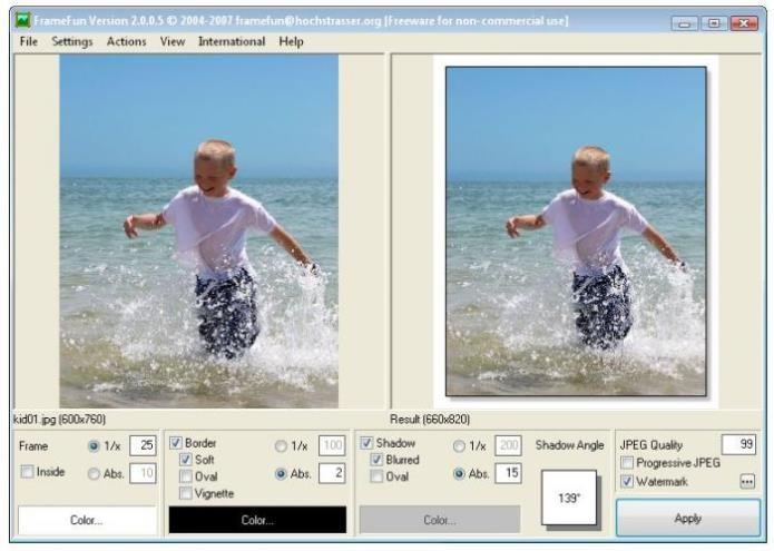 Com o Framefun é fácil editar e inserir molduras nas fotos (Foto: Divulgação)